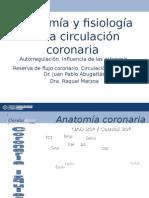 Anatomia y Fisiologia de La Circulacion Coronaria