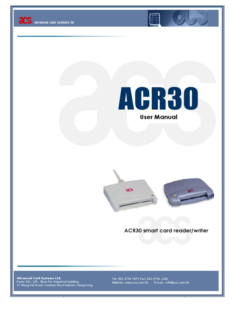 ADVANCED CARD SYSTEMS ACR30S DRIVER FOR WINDOWS 10