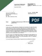 Correspondance Gil Avérous / Commission Européenne