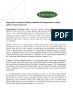 AFAD and Forum Asia joint Statement on Bangladesh