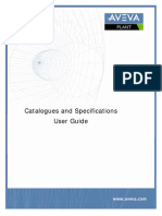 Catalogues and Specifications User Guide