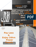 END POWER OUTAGE - Buy Our Inverters and Upgrade Exisiting Inverters to Solar Power -VANPEUX