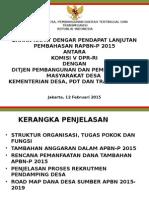 Ditjen PPMD @ RDP Lanjutan Komisi V DPR 110215 (final).pptx