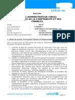 Finance Officer NOB - 19 février 2015