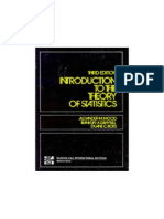 Introduction to Theory of Statistics, A. Mood, F. Graybill and B. Boes,  McGrow-Hill