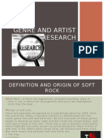 genre and artist research