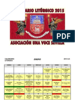 Calendario Liturgico Tradicional 2015.Unavocesevilla