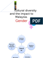 Socio-cultural Diversity and the Impact to Malaysia- Gender