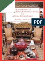 The Collections of Principessa Ismene Chigi Della Rovere and A Noble Genoese Family