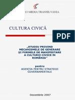 Studiu Cultura Civica