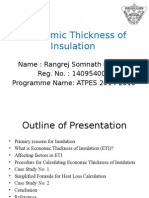 Economic Thickness of Insulation