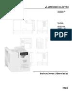 FR-E500 Instrucciones Abreviadas Vareador de Frecuencia