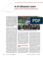 The Ascent of Lithuanian Lasers, Laser Technik Journal, Volume 11, Issue 1, pages 14–17, January 2014