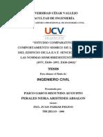 ESTUDIO COMPARATIVO DEL COMPORTAMIENTO SISMICO DE LA ESTRUCTURA DE EDIFICIO