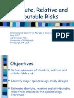 Risk Epidemiology