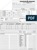 2nd Edition Style Character Record Sheet (Printer Friendly)