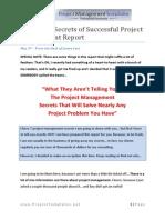 Seven Secrets of Successful Project Management