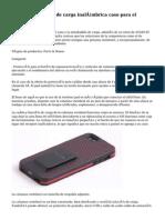 Columna vertebral de carga inalámbrica caso para el iPhone 5/5s