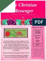 February 15 Newsletter