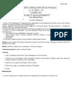 CORSO Project Management Univ Foggia