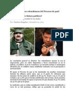 Qué Piensan Los Colombianos Del Proceso de Paz