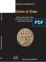 Veleyo Patérculo. Historia de Roma
