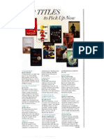 10 Titles to Pick Up Now - O Magazine, April 2014