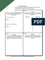 Reciprocal Reading Group Graphic Organizer / Grupo de Lectura