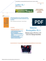 Mantenimiento de Baterías o Acumuladores de Plomo Ácido de Coches o Carros
