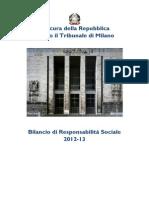 Procura Della Repubblica Presso Il Tribunale Di Milano (2013). Relazione Annuale