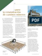 Geomallas Para La Estabilizacion de Caminos Mineros
