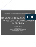 Using Summer Lab Schools to Tackle Education Inequality in Georgia