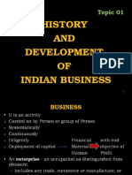 Topic 01 - History Devlop. of Indian Business