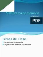 UTP - Capítulo 9 Subsistema de memorias