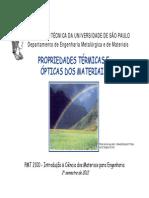 Propriedades Térmicas e Ópticas Dos Materiais