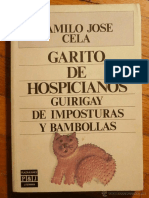 Garito de Hospicianos - Camilo Jose Cela