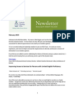 February 2015 CCUSA Racial Equity Diversity Inclusion Section Newsletter