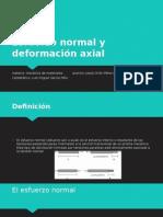 Esfuerzo Normal y Deformación Axial