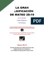 La Gran Falsificación de Mateo 28-1