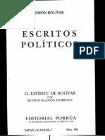 Simón Bolívar - Escritos Políticos