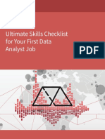Ultimate Skills Checklist for Your First Data Analyst Job