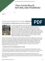 Suspensión de Plata Coloidal Blog _ El Antibiótico Natural Más Poderoso Del Mundo