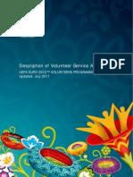 Description of Voltunteer Service Areas Uefa