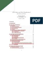 Naive Bayes 1, Naive Bayes and Text Classication I
