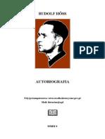 Hoss Rudolf - Autobiografia Rudolfa Hossa, Komendanta Obozu Oświęcimskiego