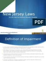 NJ DUI Penalties