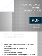 How to Present a Paper
