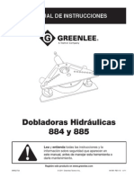 Manual Dobladora Tubos 884 GreenLee