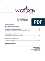 New Georgia Project Briefing Book