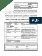 ITC SIG IT 01 Instructivo de Trabajo Para La Realización de La Revisión Por La Dirección